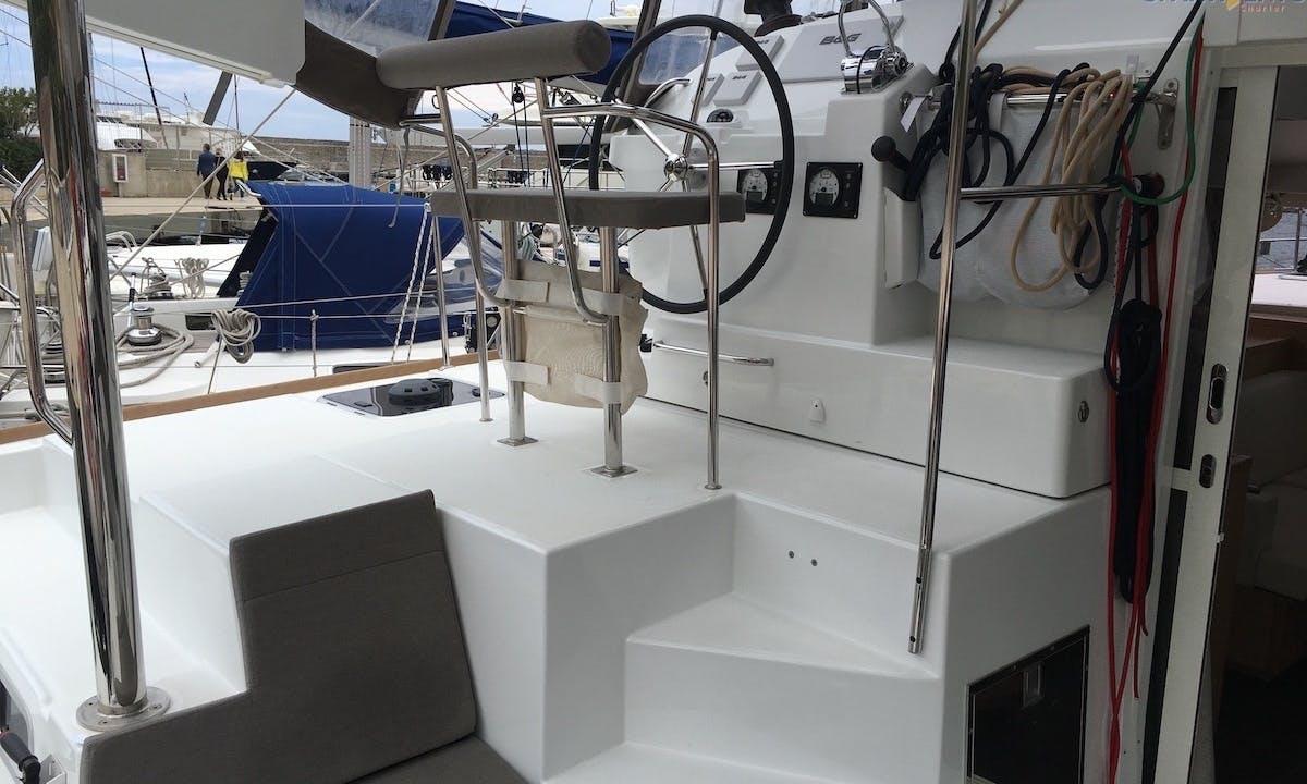 "Book the 40ft ""Iris"" Lagoon Sailing Catamaran in Tropea, Italy"