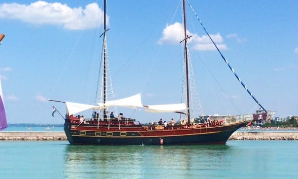 Enjoy Cruising in Siófok, Hungary on Gulet for up to 100 people!