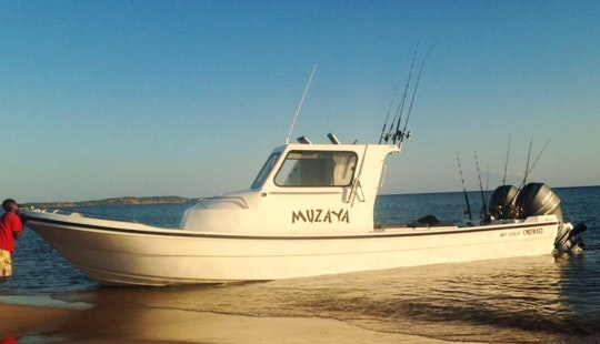 Fishing In Maputo, Mozambique On A Center Console