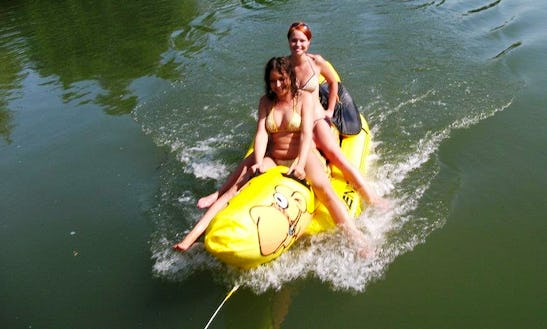 Enjoy Banana Boat Rides In Bodrogkisfalud, Hungary