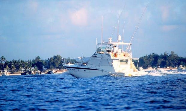 Charter Fishing in Mombasa, Kenya on 54' Sport Fisherman