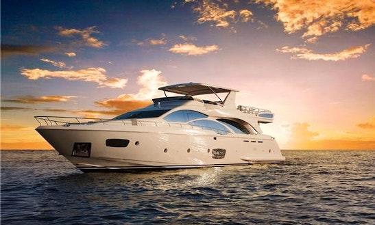 Charter The 85 Ft. Azimut Power Mega Yacht From Puerto Aventuras, Quintana Roo