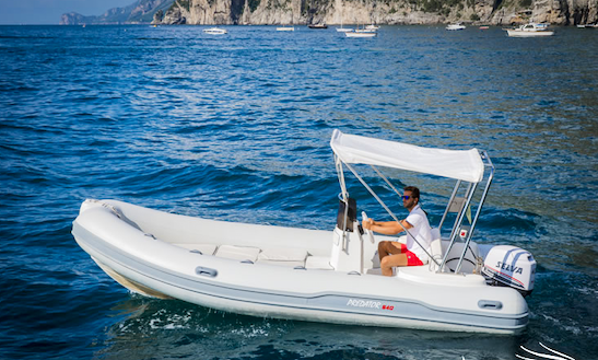 Rent 18' Predator Inflatable Boat In Positano, Italy