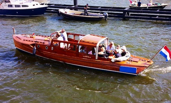 Elegant Cruise Around Amsterdam Aboard The 31' Pettersson Classic Boat