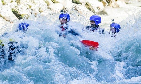 Whitewater Rafting In Sautens, Ötztal, Tirol, Austria