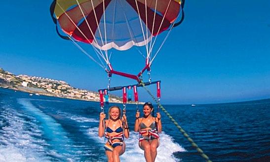 Enjoy Parasailing In San Ġiljan, Malta