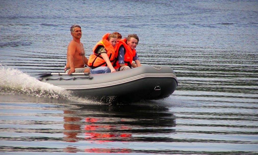 "Enjoy Samara, Russia On PVC ""Cayman-400"" RIB"