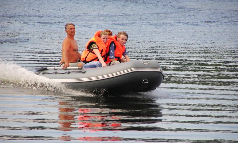 "Enjoy Samara, Russia On PVC ""Cayman-400"" RIB"