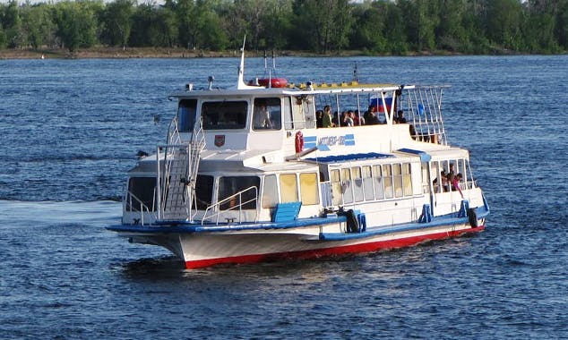 "Charter ""Satellite-2"" Passenger Boat In Samara, Russia"
