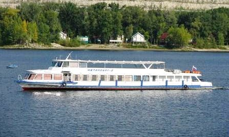 "Charter ""Metallurg 2"" Passenger Boat In Samara, Russia"