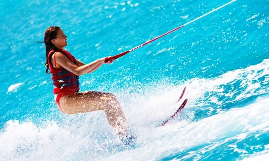 Enjoy Water Skiing In Armação De Pêra, Algarve, Portugal