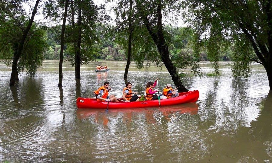 Rent a Quadruple Canoe in Dunabogdány, Hungary
