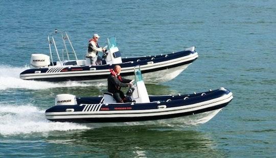 Rent 17' Rigid Inflatble Boat In Għajnsielem, Malta For 6 Pax