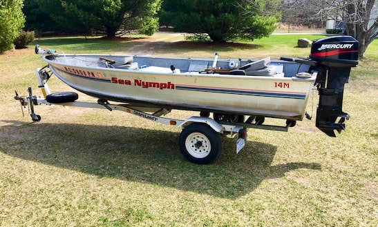 Rent 14' Sea Nymph Bass Boat In Shelby, Michigan