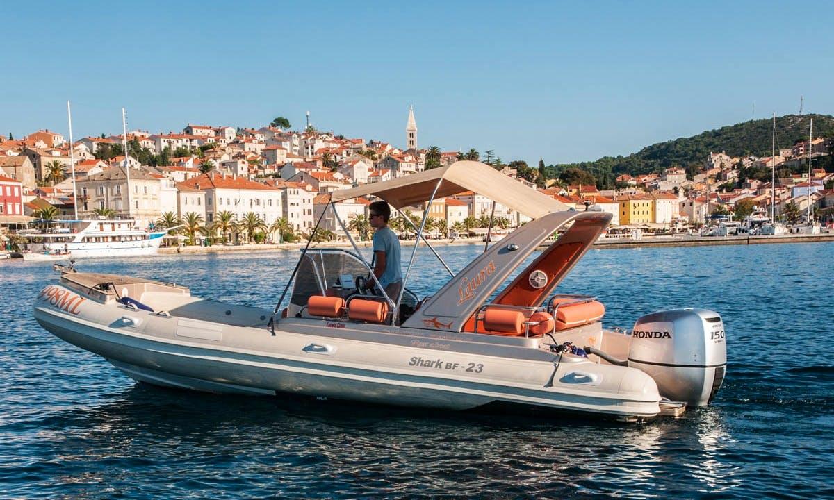 Rent 23' Shark Rigid Inflatable Boat in Mali Lošinj, Croatia