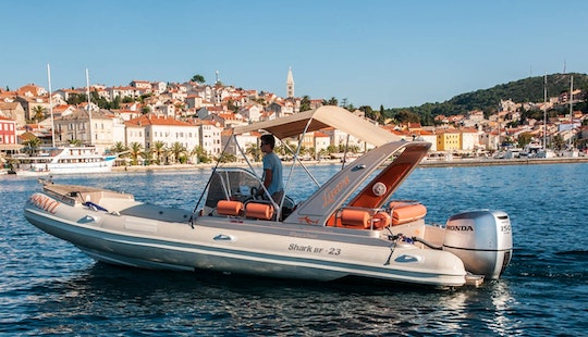 Rent 23' Shark Rigid Inflatable Boat In Mali Lošinj, Croatia