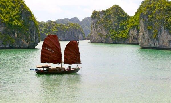 Enjoy Indochine Sailing Junk on Bai Tu Long Bay, Vietnam