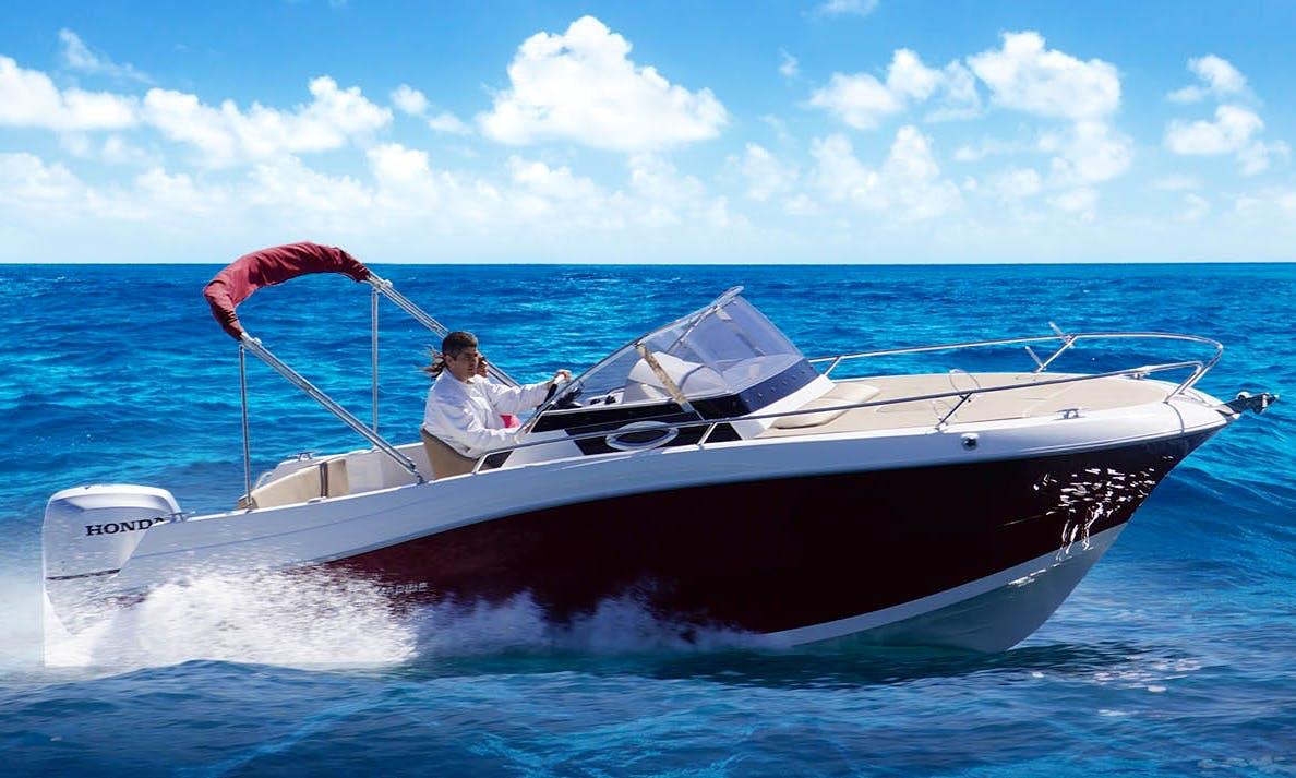 Rent 21' Atlantic Sun Cruiser in Opatija / Rijeka / Bakar / Crikvenica / Selce / Krk / Cres / Lošinj / Rab