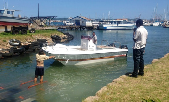 Enjoy Fishing In Durban, Kwazulu-natal On A Center Console