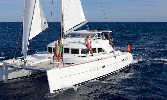 Charter 38' Lagoon Cruising Catamaran At Elba Island, Italy