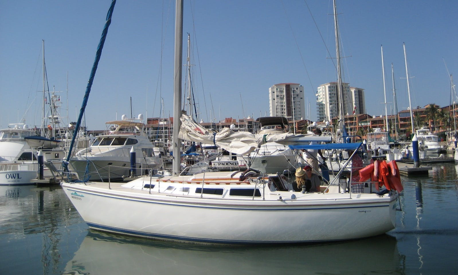 Private Crewed Sailing Charter On 30' Catalina Sailboat In Puerto Vallarta, Mexico