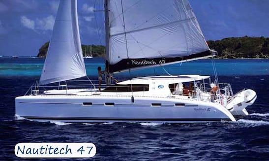 Charter 47' Nautitech Cruising Catamaran In Sardegna, Italy