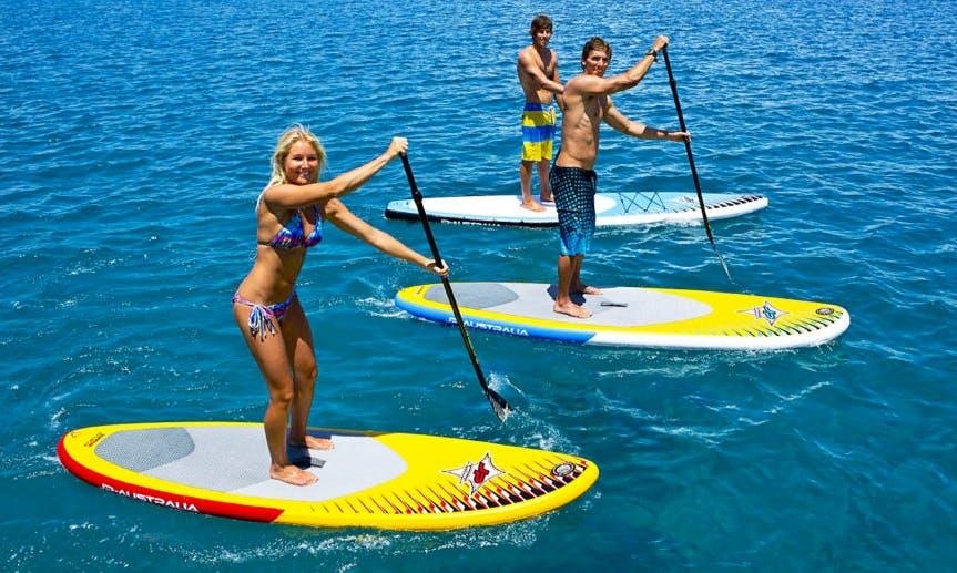 Rent a Stant Up Paddleboard in Porto Cesare, Puglia