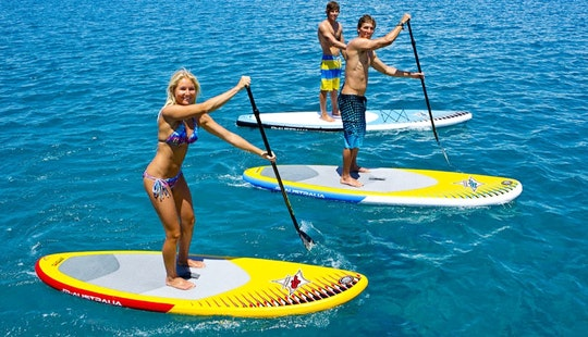 Rent A Stant Up Paddleboard In Porto Cesare, Puglia