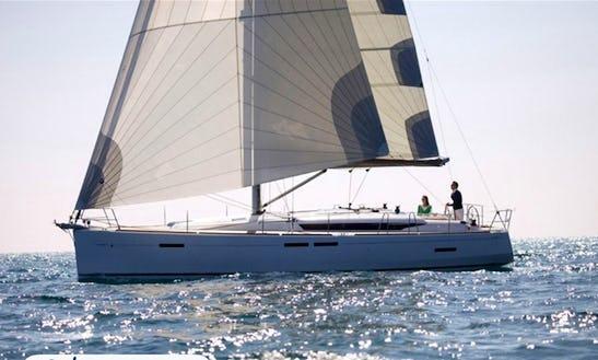Charter 45' Jeanneau Sun Odyssey Cruising Monohull In Sardegna, Italy
