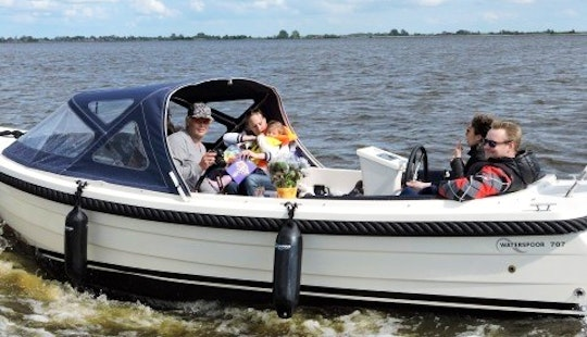 Rent 23' Ms Dominique Canal Boat In Workum, Friesland