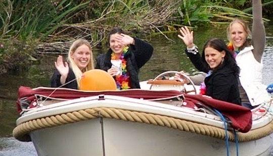 Rent 18' Ms Ajax Canal Boat In Workum, Friesland
