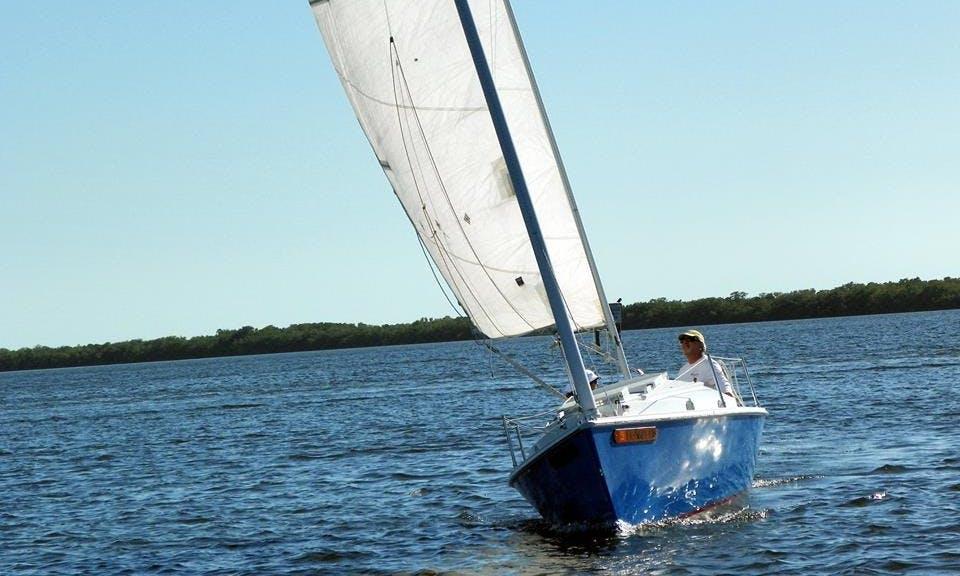 "Charter the 23ft ""Poule D' Eau"" Sailboat in Matlacha, Florida"