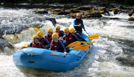 White Water Rafting On The River Tay, Scotland, Uk