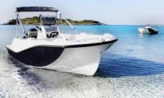 Explore Port D'alcudia, Spain On This V2 5.0 15hp Center Console