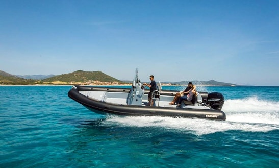 Enjoy Fishing In La Caletta, Sardegna On A Rigid Inflatable Boat