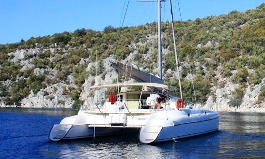 Charter 38' Fountaine Pajot Athena Cruising Catamaran In Karagozler, Mugla