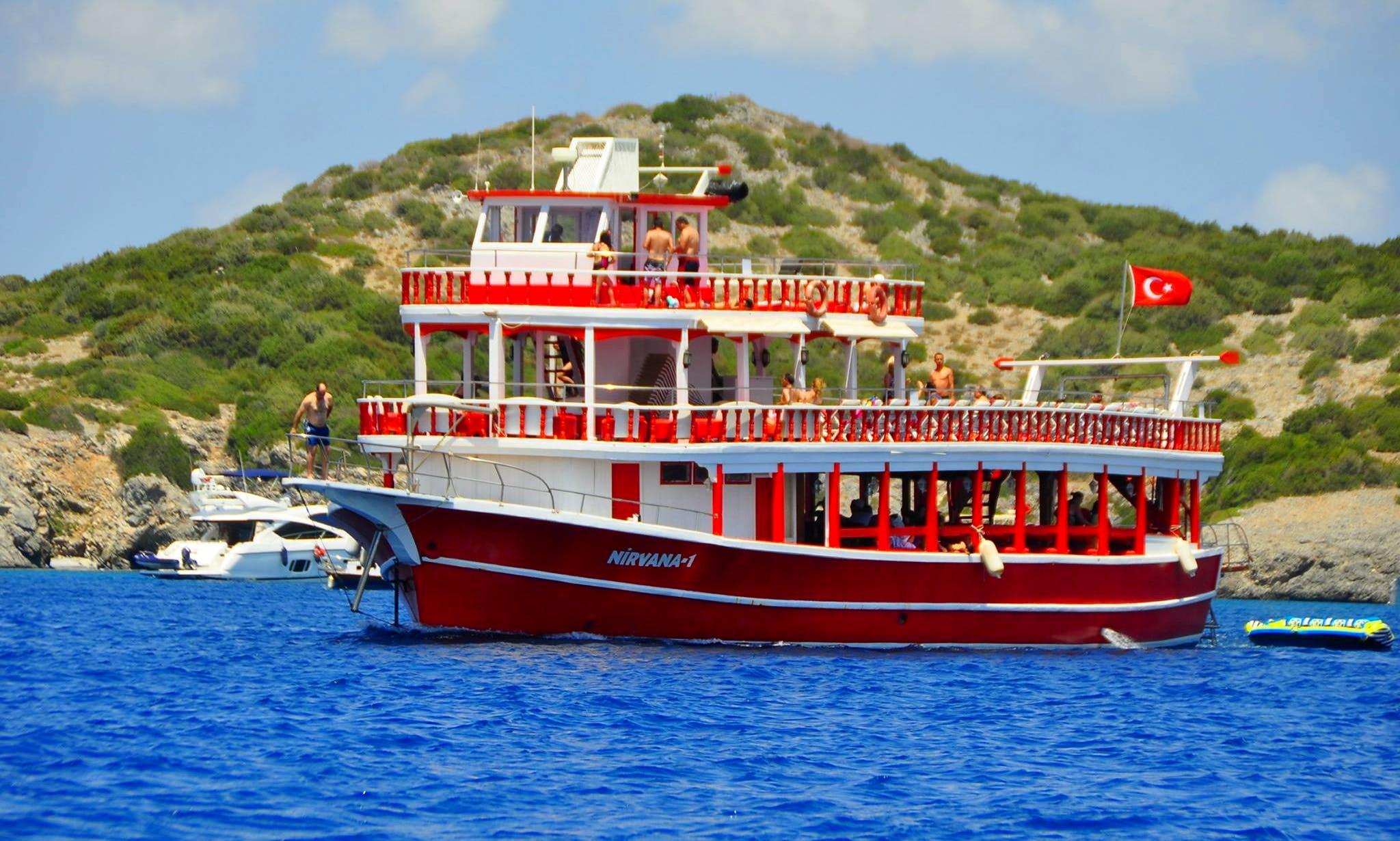 Enjoy Muğla, Turkey on Nirvana 1 Passenger Boat