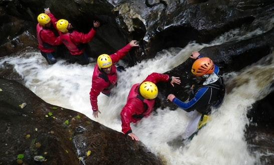 Keltneyburn Canyoning Trip, Aberfeldy, Scotland.