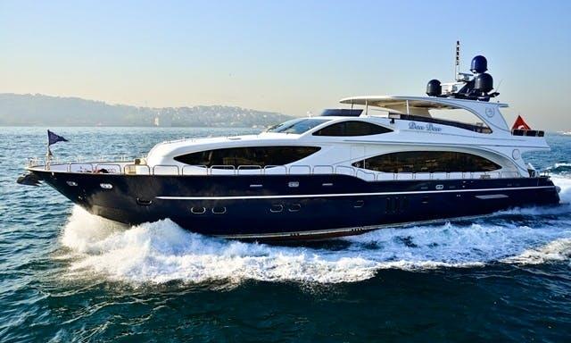 Charter a Power Mega Yacht in İstanbul, Turkey