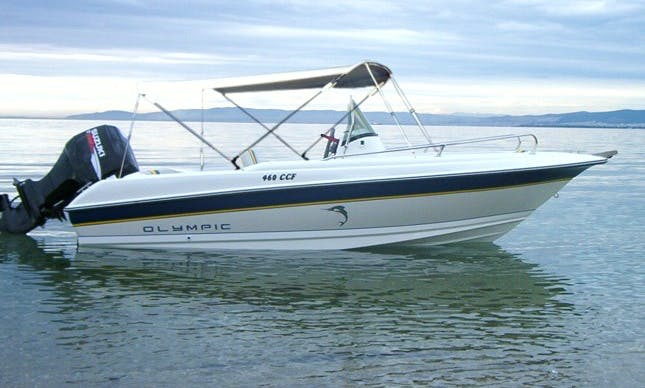 Rent Olympic 490 SX Center Console Boat in Lefkada