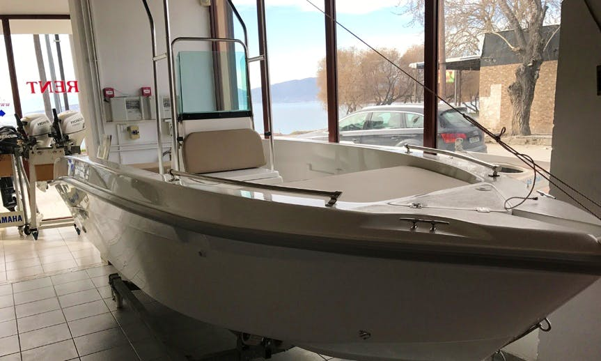 Rent the Nhreys 4.50 Center Console Boat in Lefkada