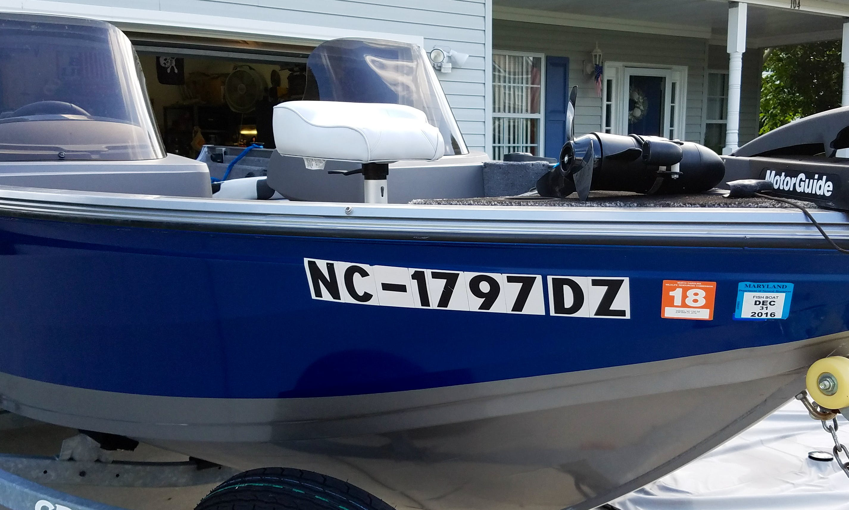 "17ft 'Lucky Lady"" Center Console Rental In Moyock, North Carolina"