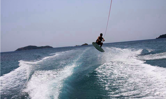 Enjoy Wakeboarding At Ahladies Beach, Sporades