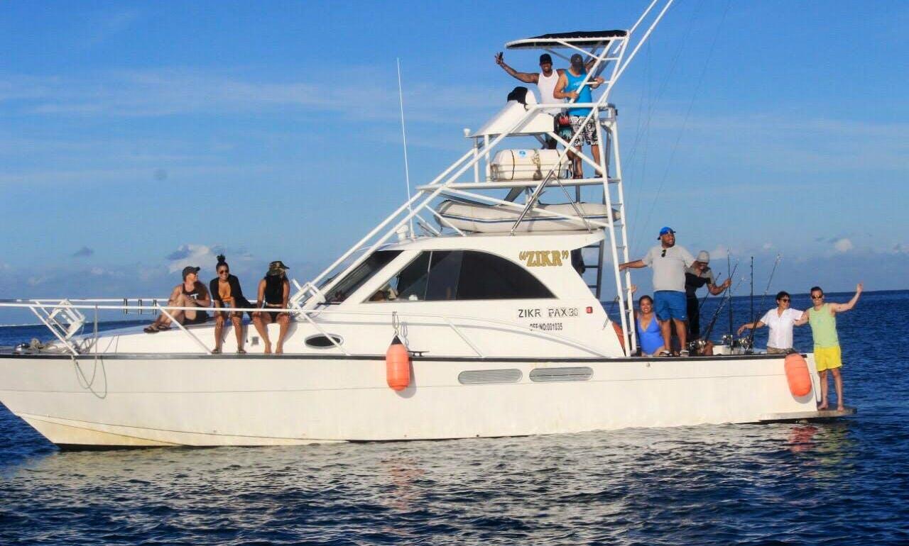 "Book our 45' ""Zikr"" Sport Fisherman Fishing Boat From Denarau Island, Fiji"