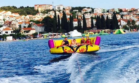 Enjoy Crazy Ufo Rides At Okrug Gornji Beach In Dalmatinska