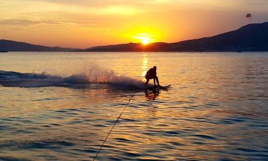 Enjoy Water Skiing At Okrug Gornji Beach In Dalmatinska