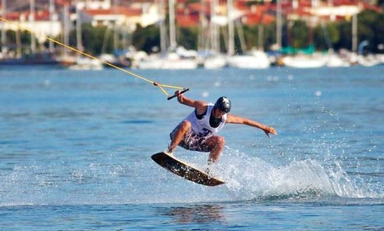 Enjoy Wakeboarding At Okrug Gornji Beach In Dalmatinska