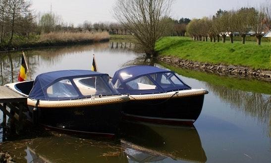 Rent 21' Water Platform 630 Canal Boat In Lokeren, Vlaanderen