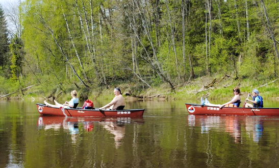 Kayak And Canoe Rental Laivuire.lv, 14' Old Town Saranac 146 Canoe In Latvia