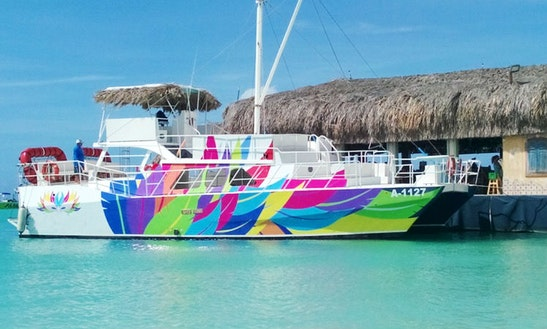 53' Power Catamaran Charter In Palm Beach, Aruba